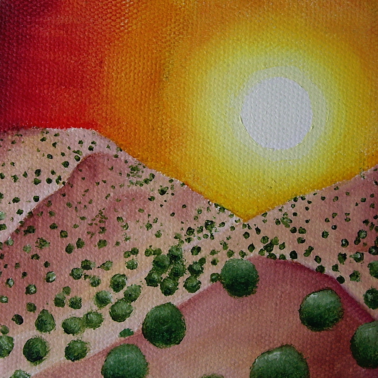 """The Sun: Oil on canvas. 4"""" x 4"""" x 1"""" 2013   Purchase print here."""