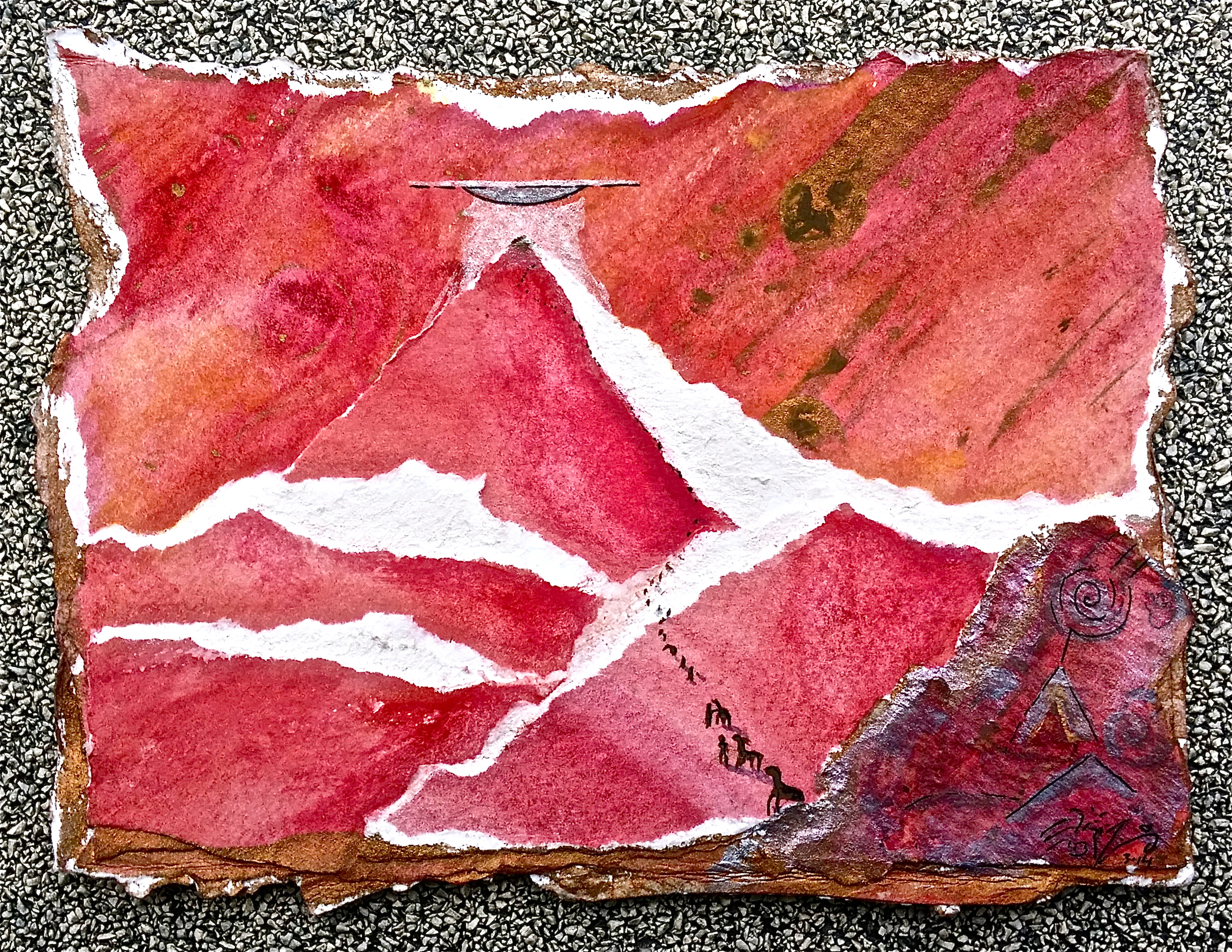"""Mixed media ~6"""" x 4""""  PURCHASE A PRINT HERE"""