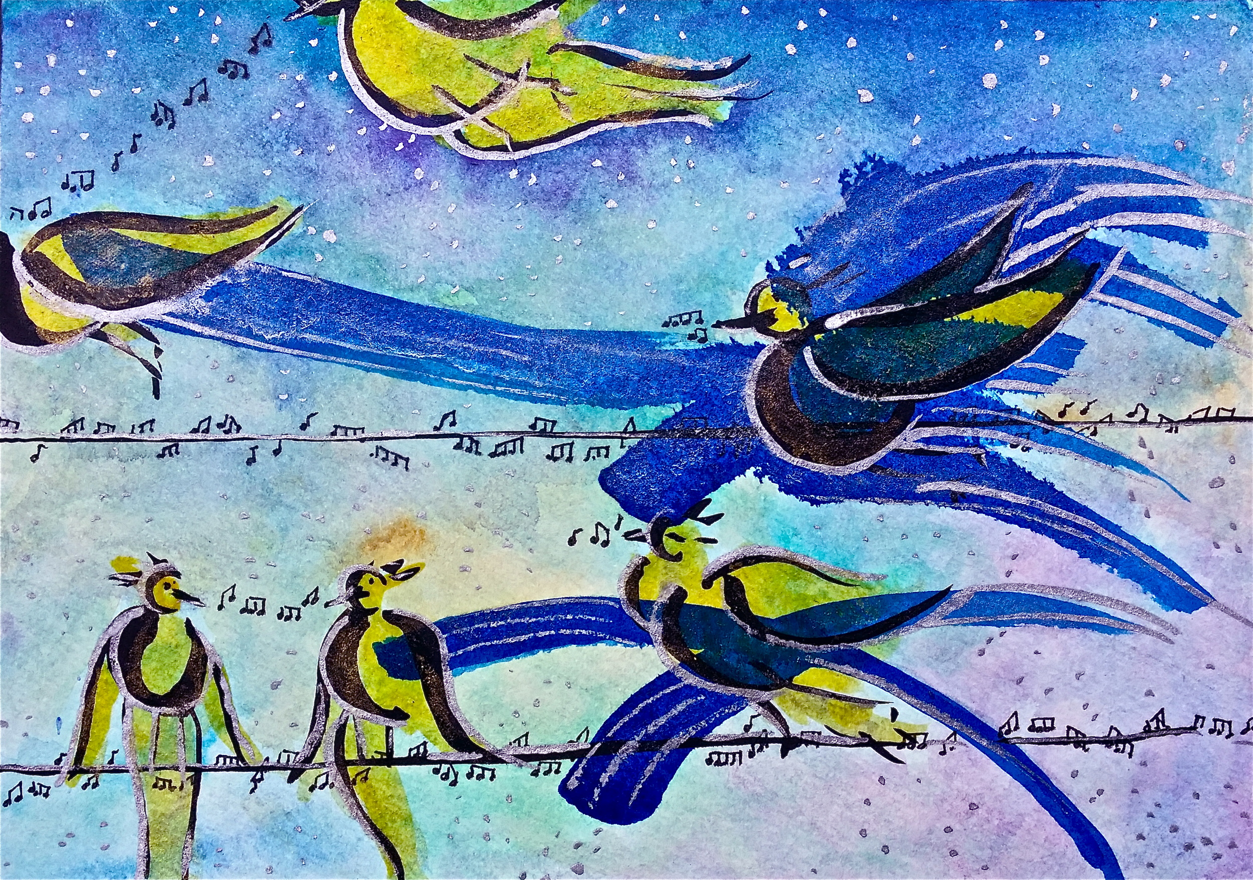 """Watercolor and india ink on paper. 7"""" x 5"""".  Win it here  and  PURCHASE A PRINT HERE"""
