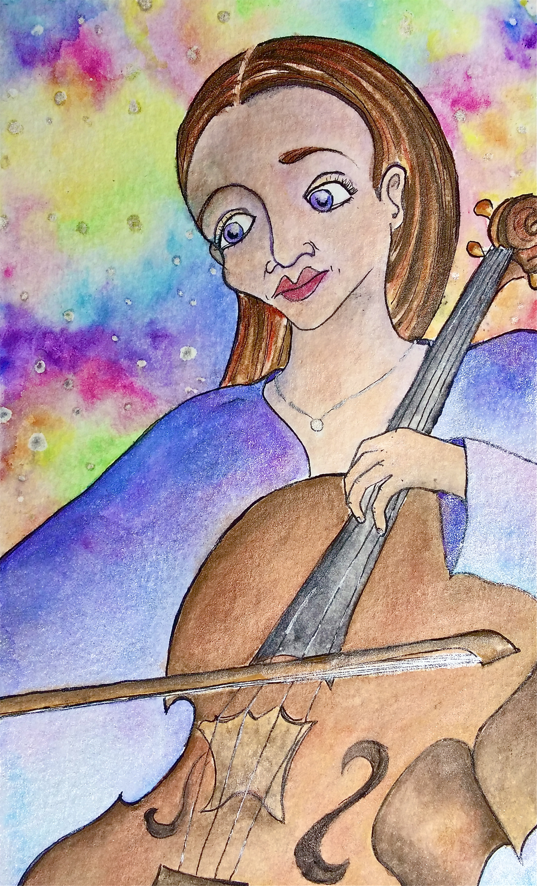 """Watercolor on paper. 8"""" x 5""""  Win it here  and  PURCHASE A PRINT HERE."""