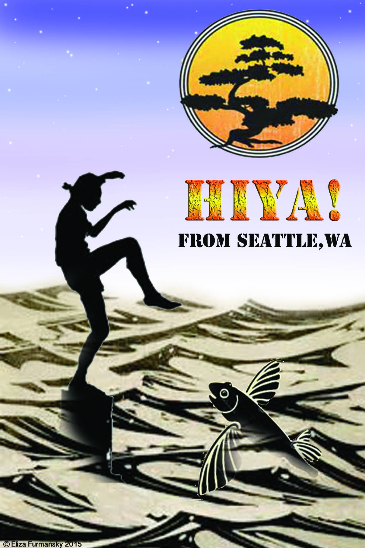 Seattle Postcard as an ode to the Karate Kid