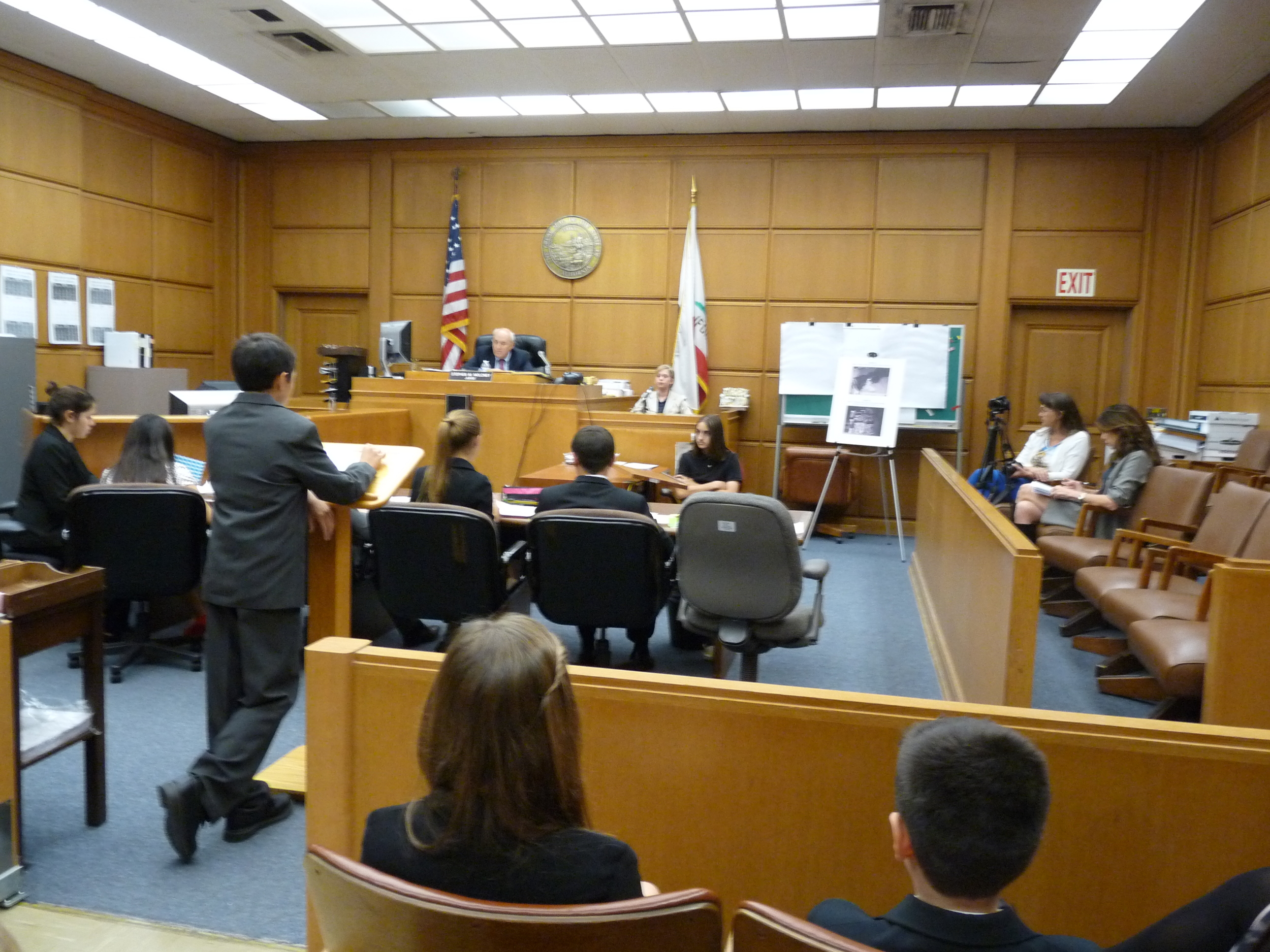 Students participating in Mock Trial