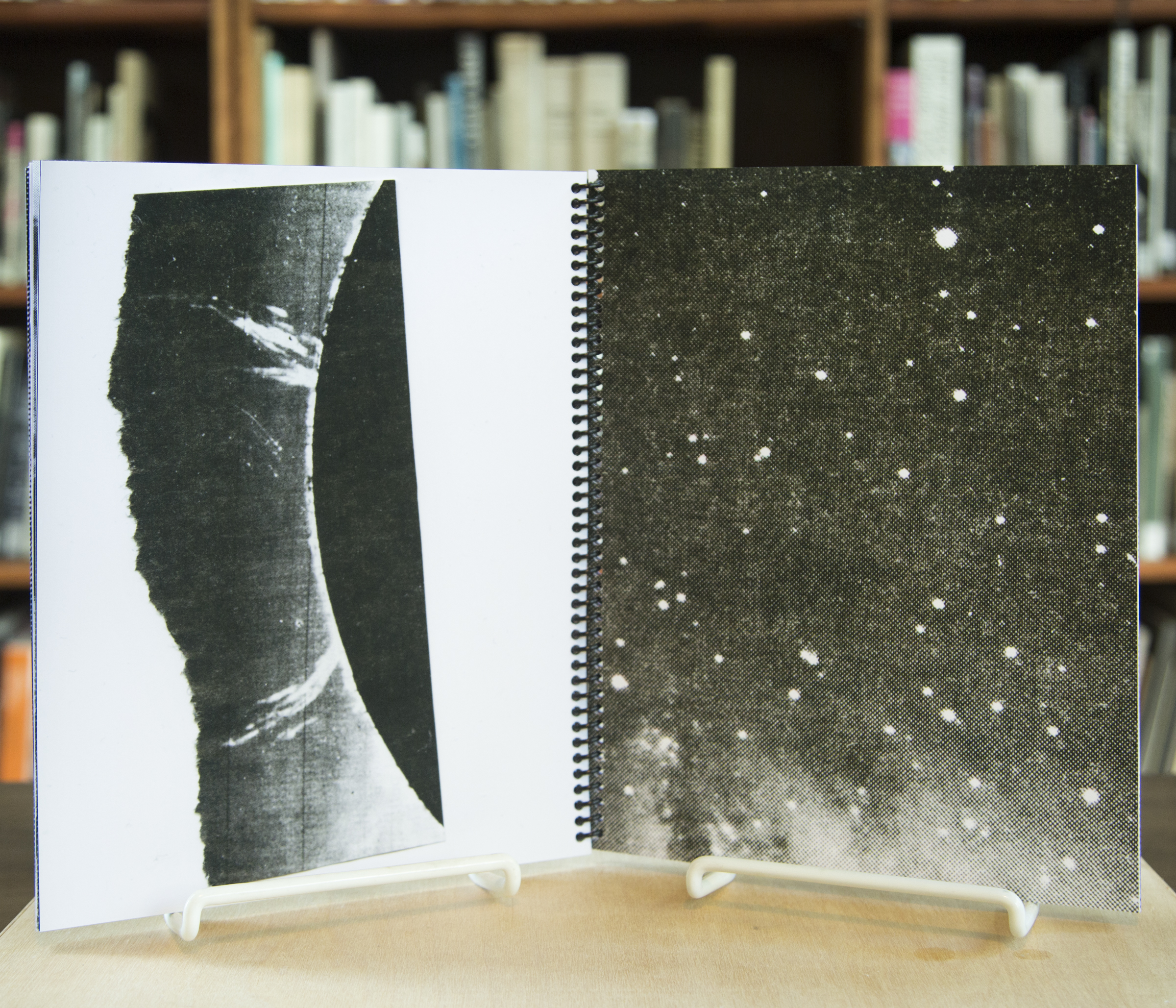 Detail from artist book