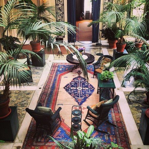 George Eastman House, view into the indoor courtyard