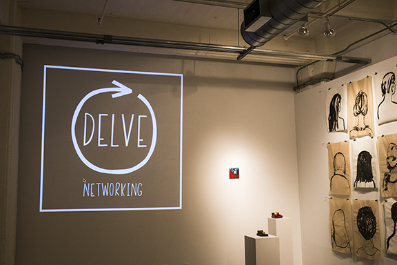 Delve Networking at A.I.R. Gallery, Dumbo, Brooklyn, N.Y.
