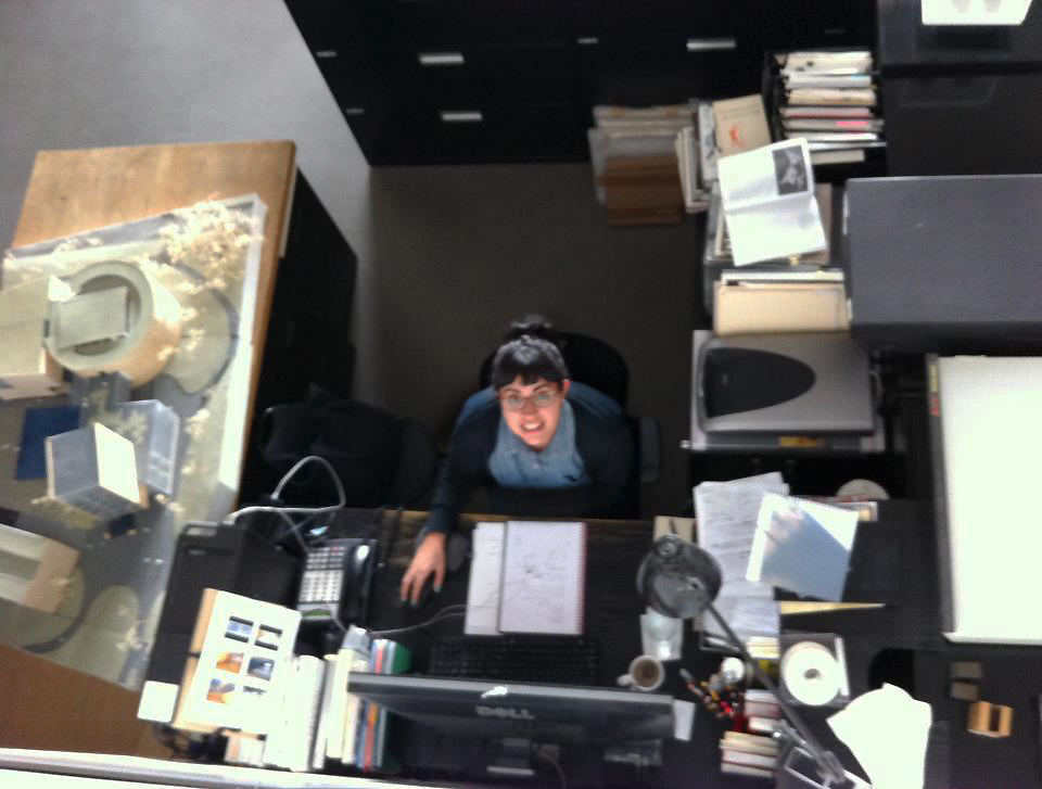 Janine at work at Steven Holl Architects.