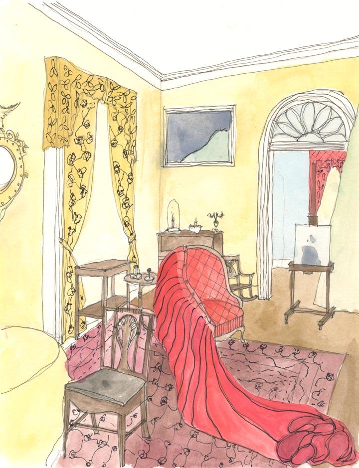 A drawing by Annie Coggan