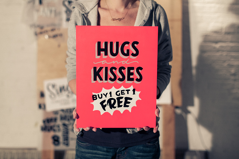 Our friend Annica at Dirty Bandits still has a lot of  Love for Sale on her website . Get a hand-lettered poster for a loved one!
