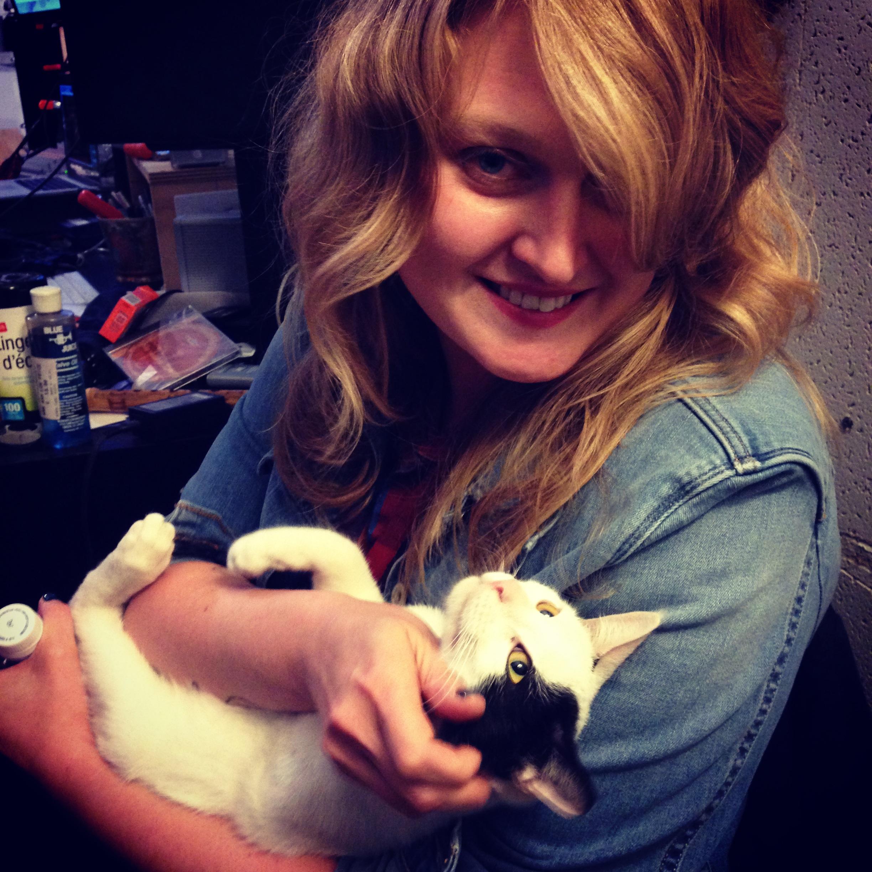 Kelli and cat