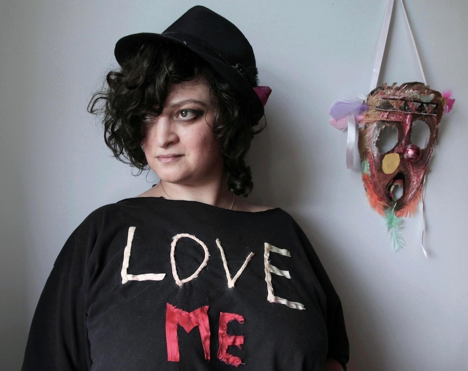 Katya Grokhovsky, Selfie as an artist with a mask, 2013