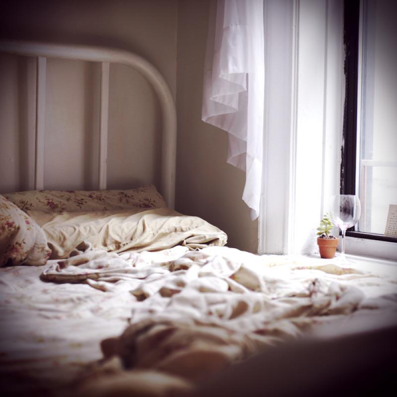 Sarah's bed, photograph by Sarah Anne Ward