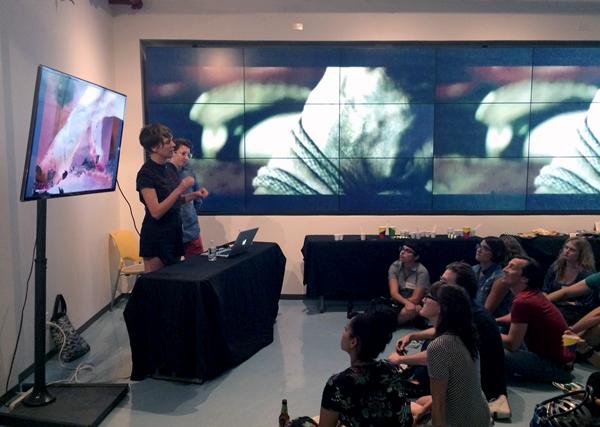 Emilie Baltz sharing her work at DELVE Food + Art