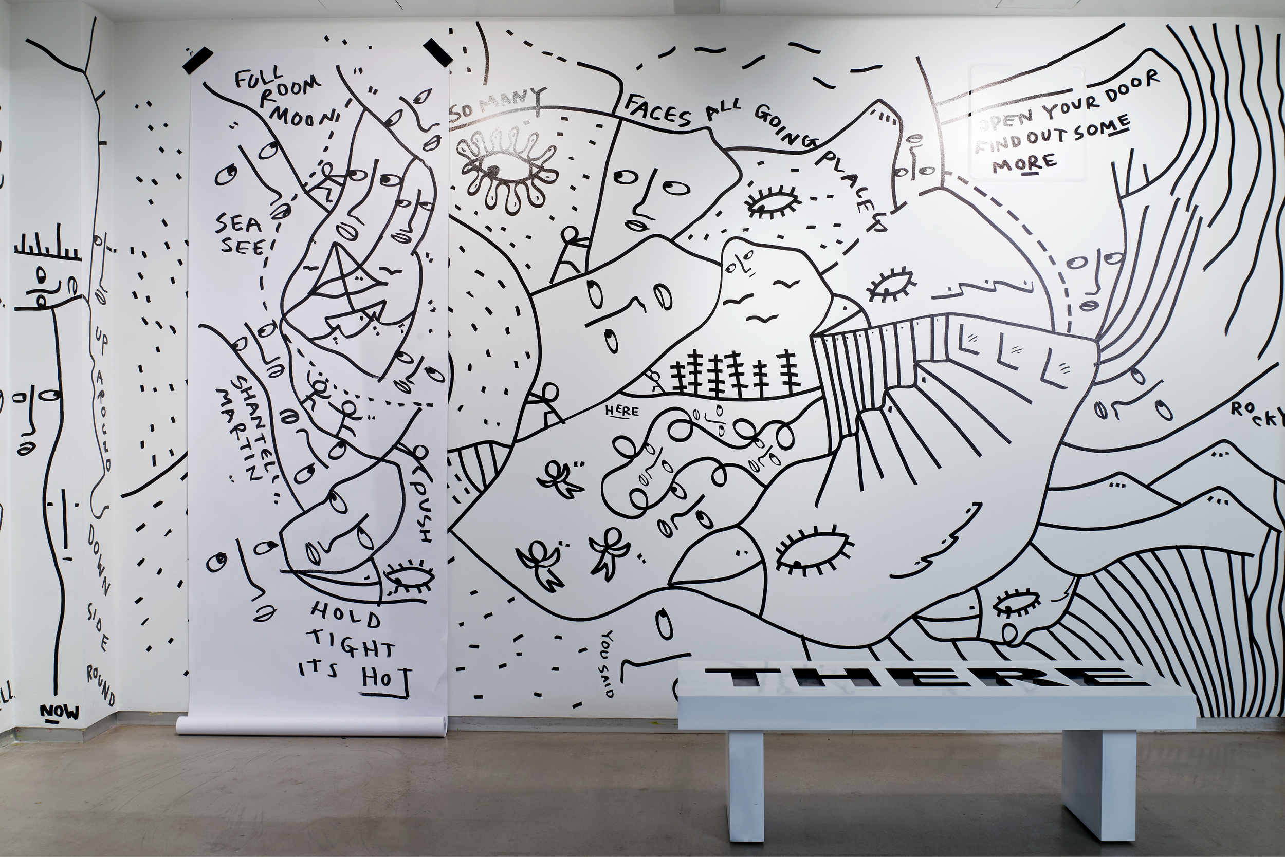 ARE YOU YOU exhibition at MoCADA by  artist Shantell Martin , photo by Steven Harris