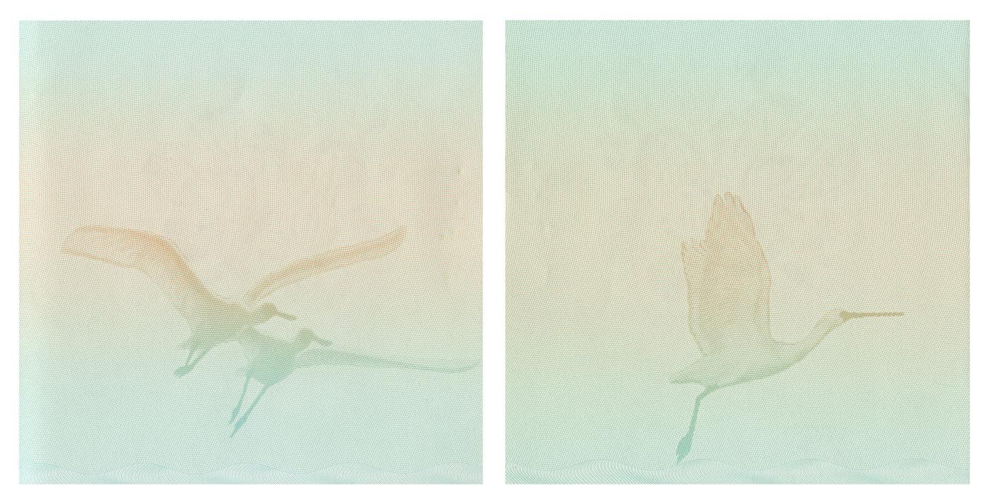 Jesse Chun,  Landscape #3 (diptych) , Archival Inkjet Print, 22 x 22 inches each