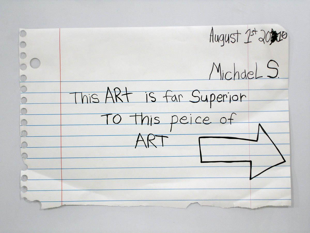 """Michael Scoggins  Far Superior                                           marker, colored pencil on paper             35""""X51""""                   2010"""