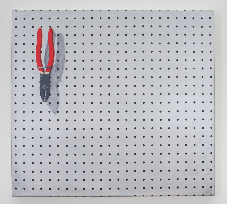"""Husky (Pliers), acrylic on canvas, 20"""" x 24,"""" 2013"""