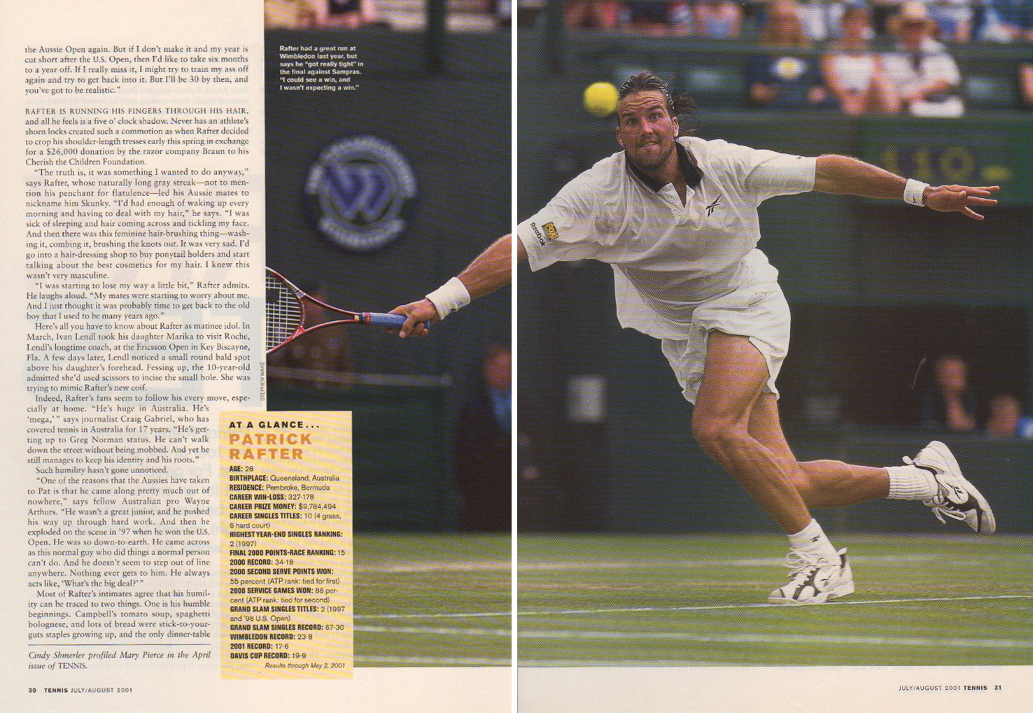 Tennis Magazine, Assistant Art Director  design, art direction