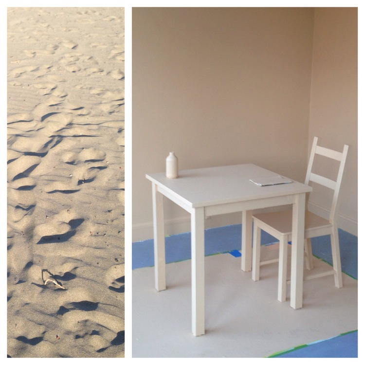 Leah's   Everyday, a color  project . Day 6: Fiery Sunset, Day 7: Beach Sand.