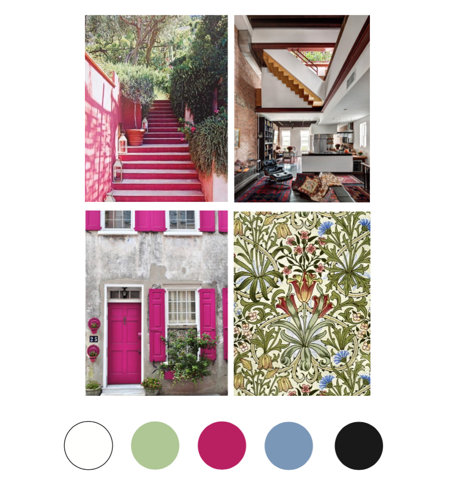 Collect images with colors that appeal to you to help you create a new color palette.