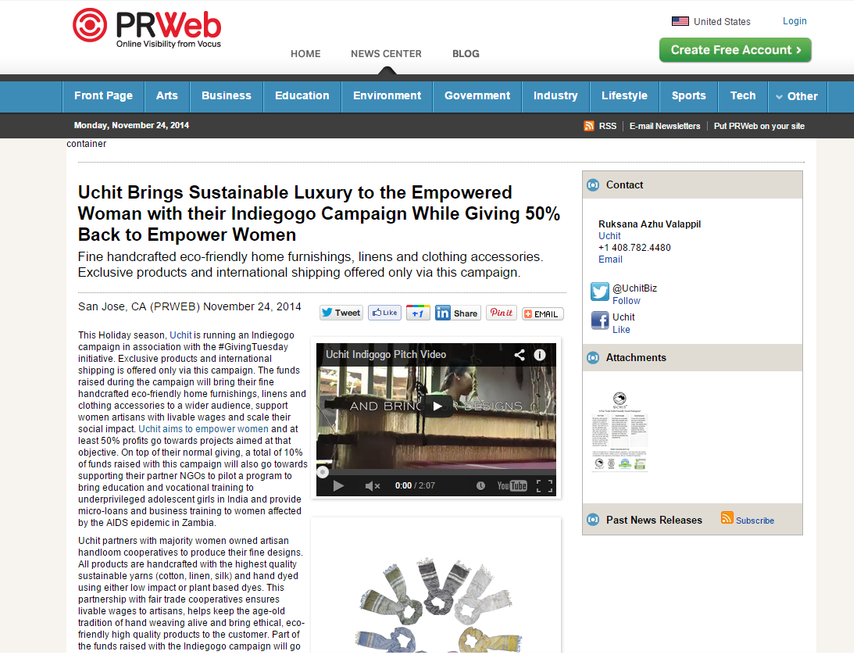 Press Release Indiegogo Campaign