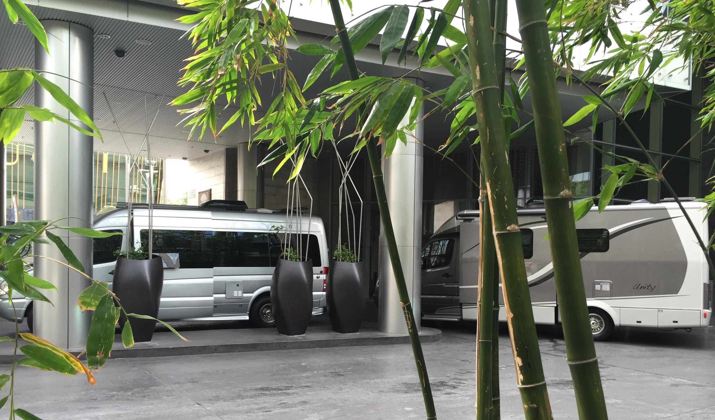 BlissRV rigs being delivered in Mandarin Oriental Las Vegas' zen setting