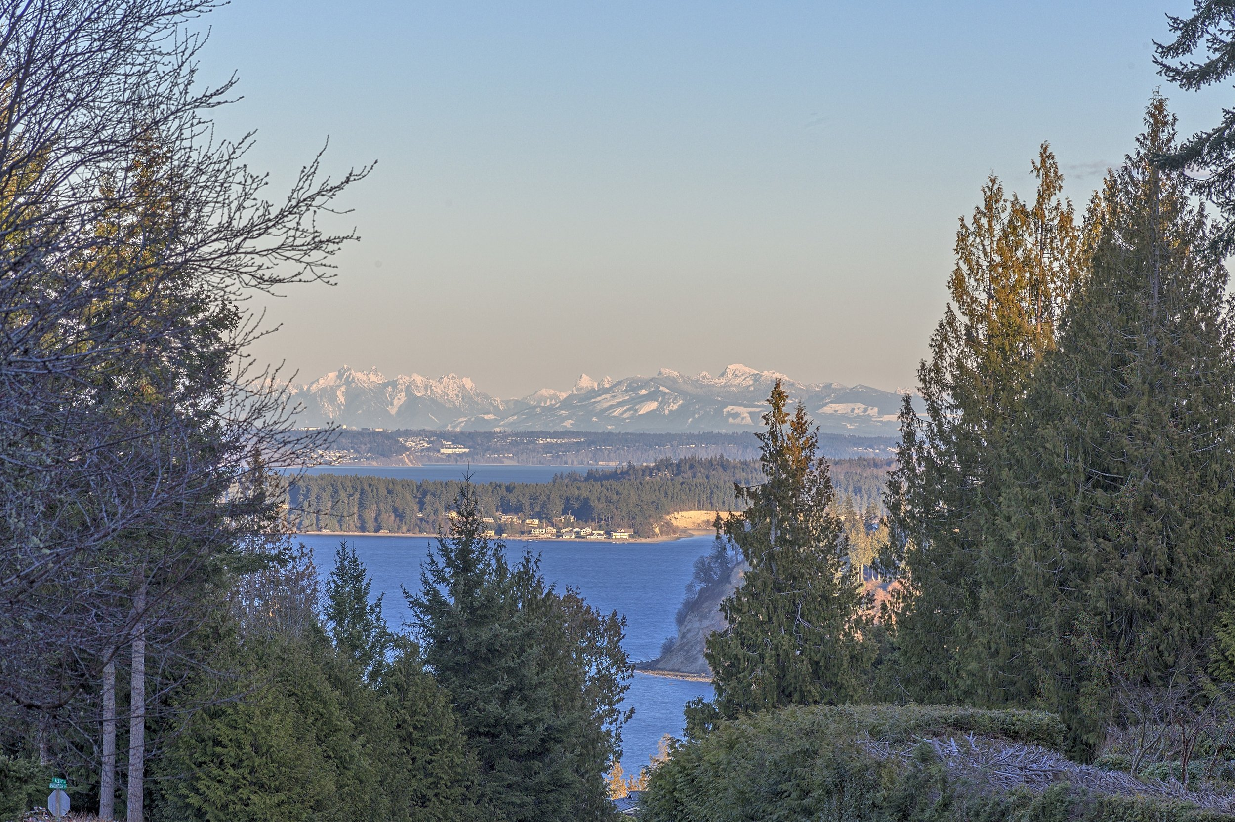 The Puget Sound and Cascades from Port Ludlow, WA (03/03/2019)