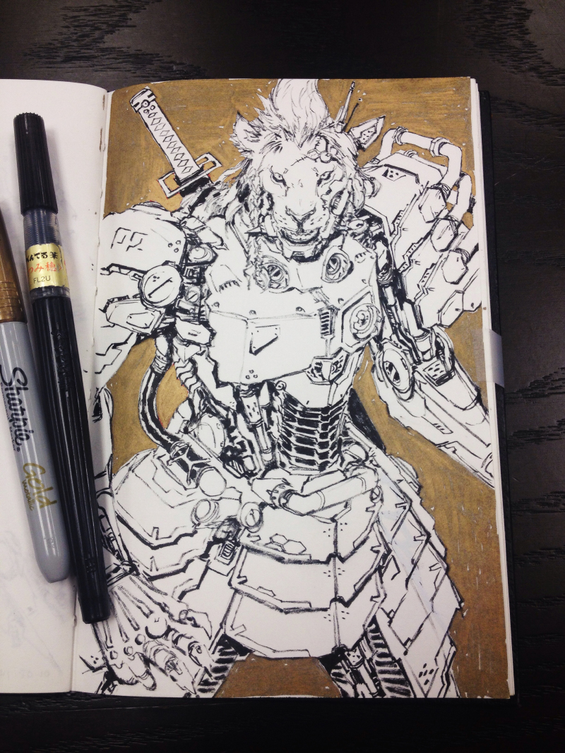 emerson_tung_ink_lioncyborg