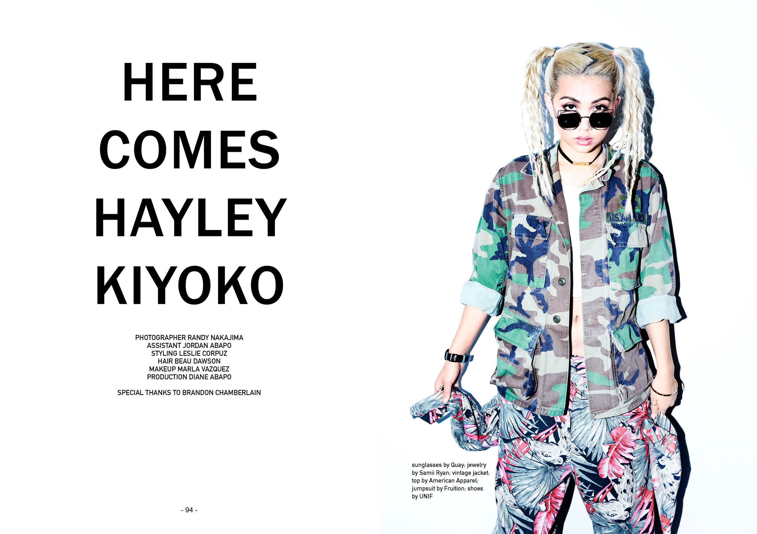 Hayley Kiyoko on the cover of SUSPEND Magazine, ISSUE 05.
