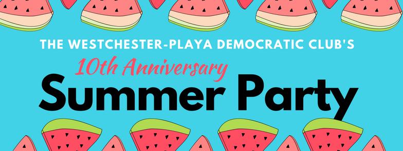 westchester playa democratic club summer party