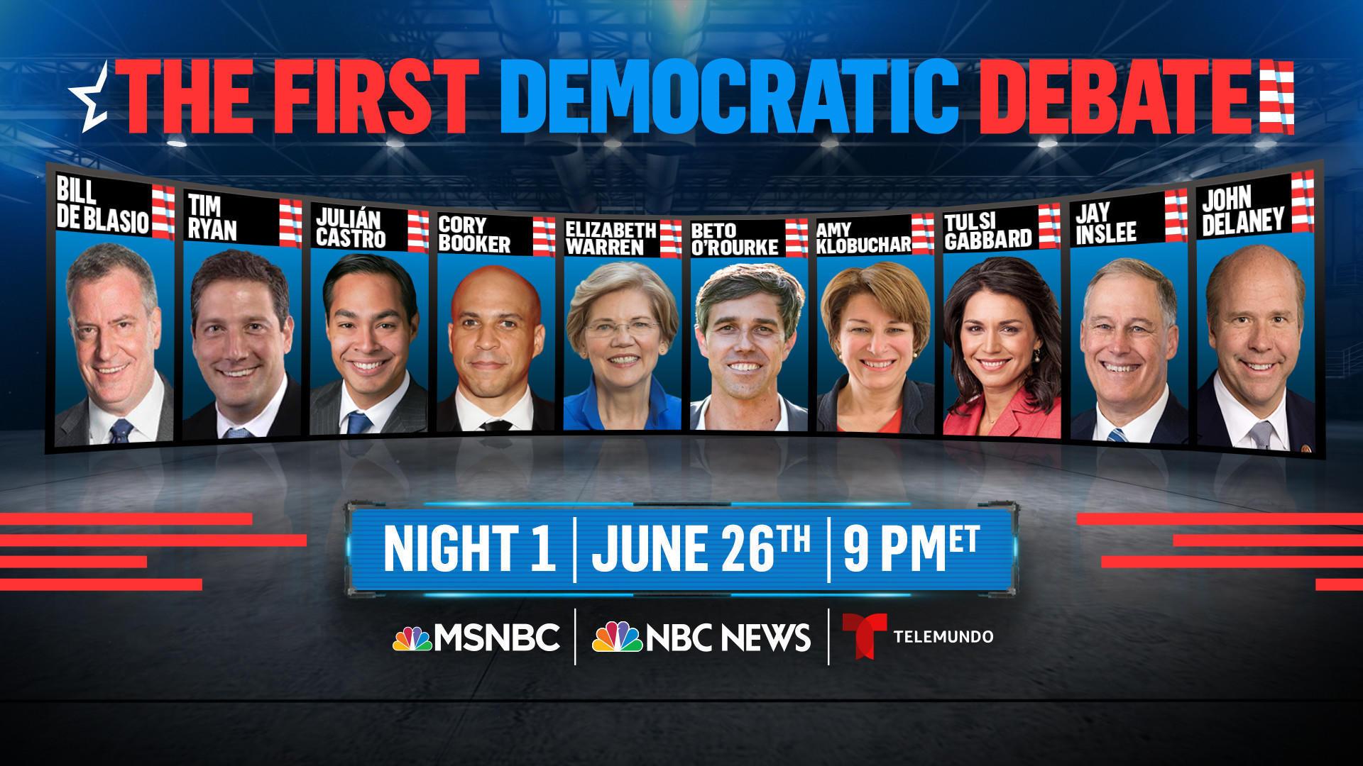presidential debate democrat 1