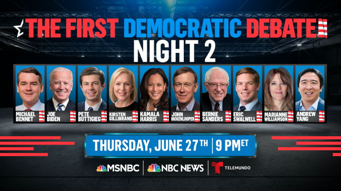 presidential debate democrat 2