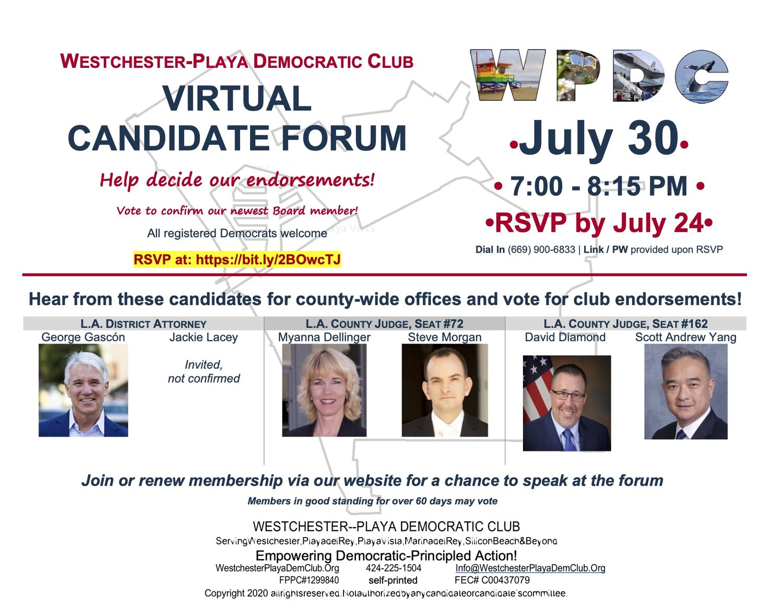 Members Only Westchester Playa Democratic Club Los Angeles Ca
