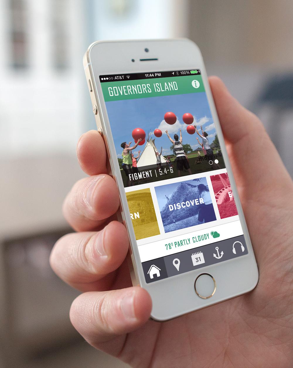 GOVERNORS' ISLAND   Mobile App Design