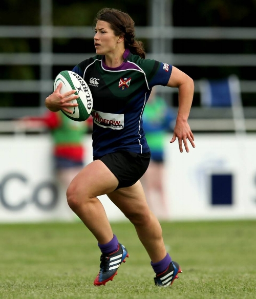 Christina during one of her international matches in Ireland. Photo courtesy of Christina Ramos