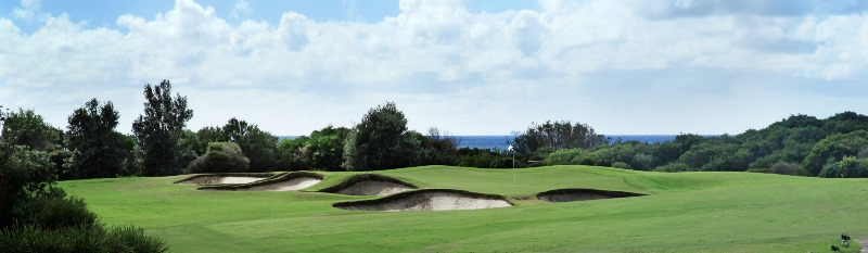 The picturesque 12th hole at St Michael's Golf Club, Little Bay