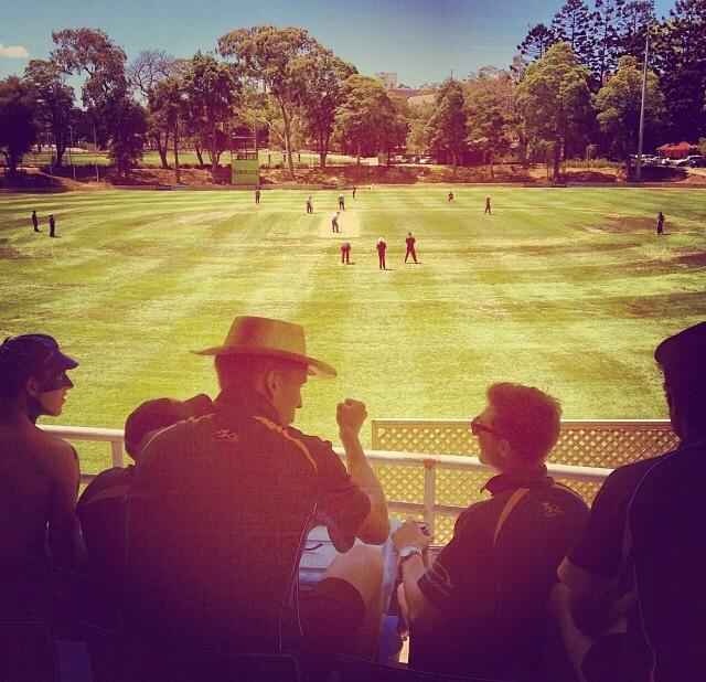 The current troops discuss battle plans at Uni No. 1 Oval