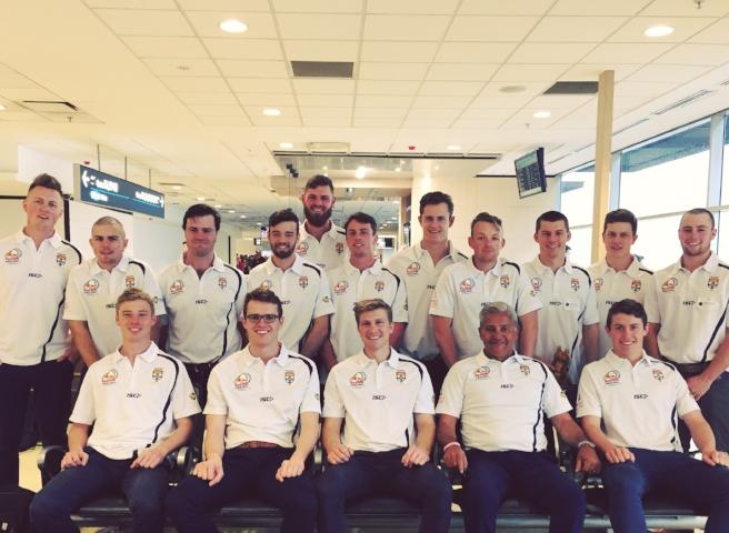 Team Australia assemble at the airport
