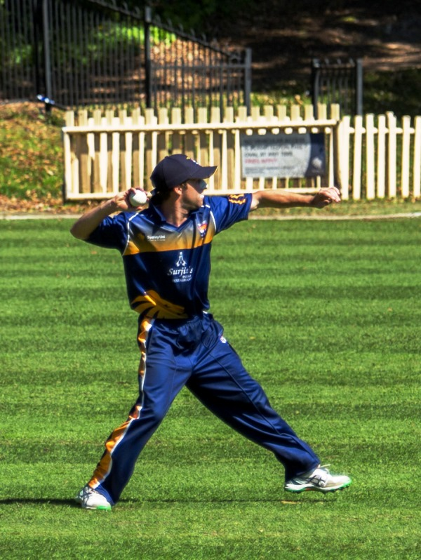Devlin Malone fires in for a runout on debut