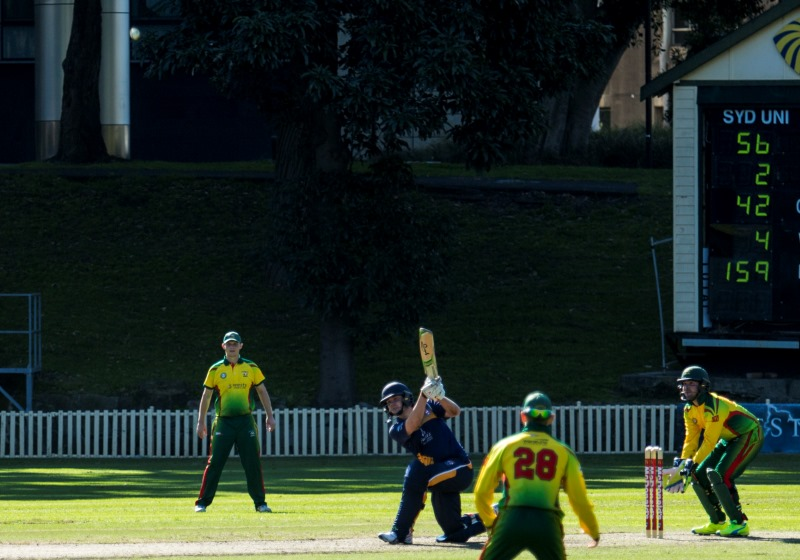 May hits out with less than 10 runs to win