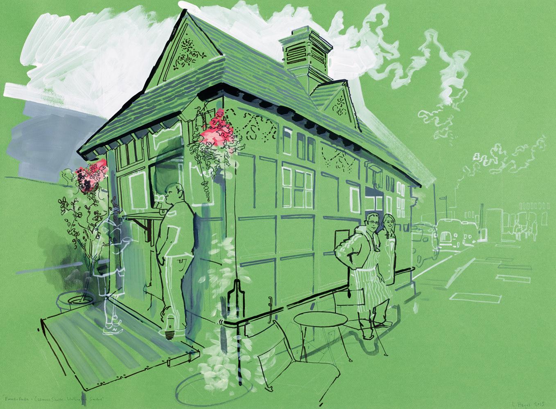 emma & andre. cabman's shelter-wellington gardens-st. johns wood