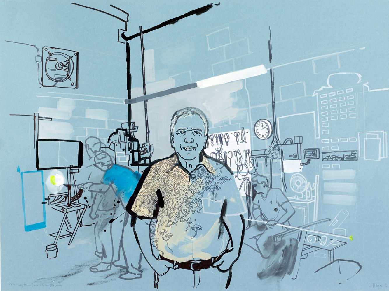 peter layton. london glassblower-bermondsey street