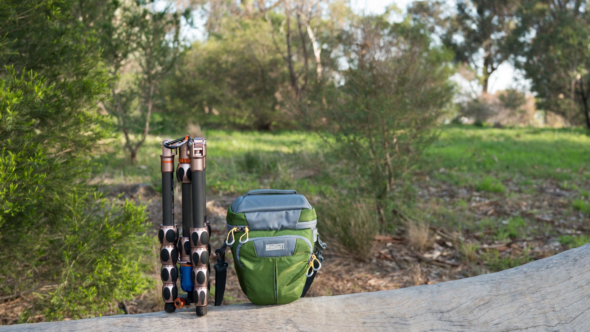 3LeggedThing Tripod & MindShiftGear MultiMount Holster w/ Sony a7RMk2 + Zeiss 35mm f/1.4