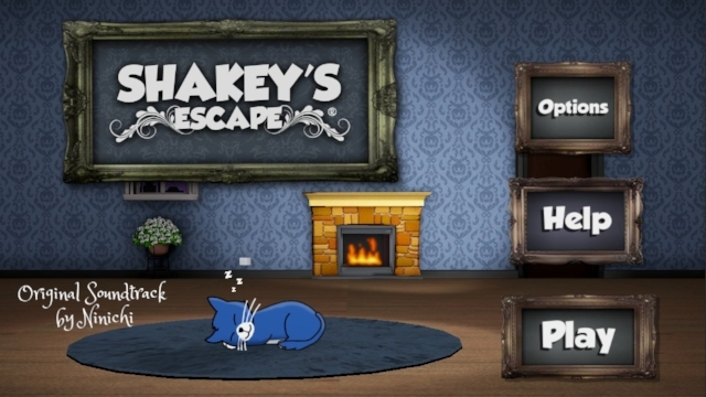 Shakey's Escape Original Soundtrack by Ninichi - cover art with Shakey the cat sleeping