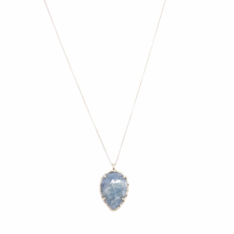 Teardrop Necklace in Aquamarine