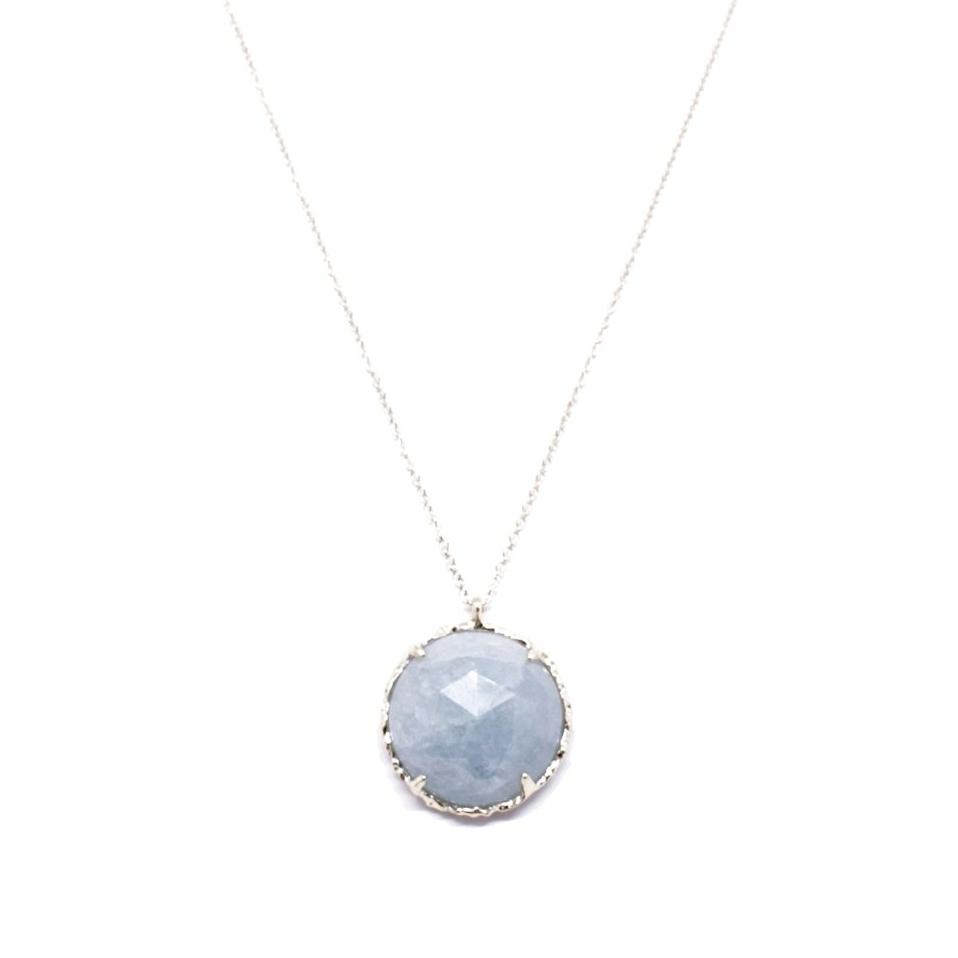 Round Necklace, Large, in Aquamarine