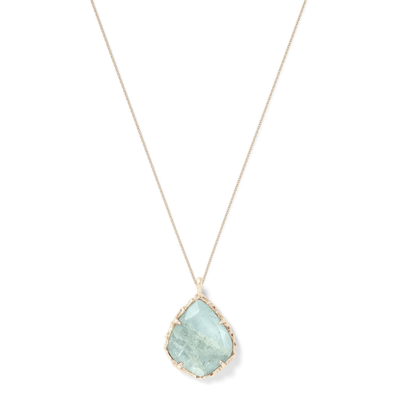 Trapezoid Necklace in Aquamarine