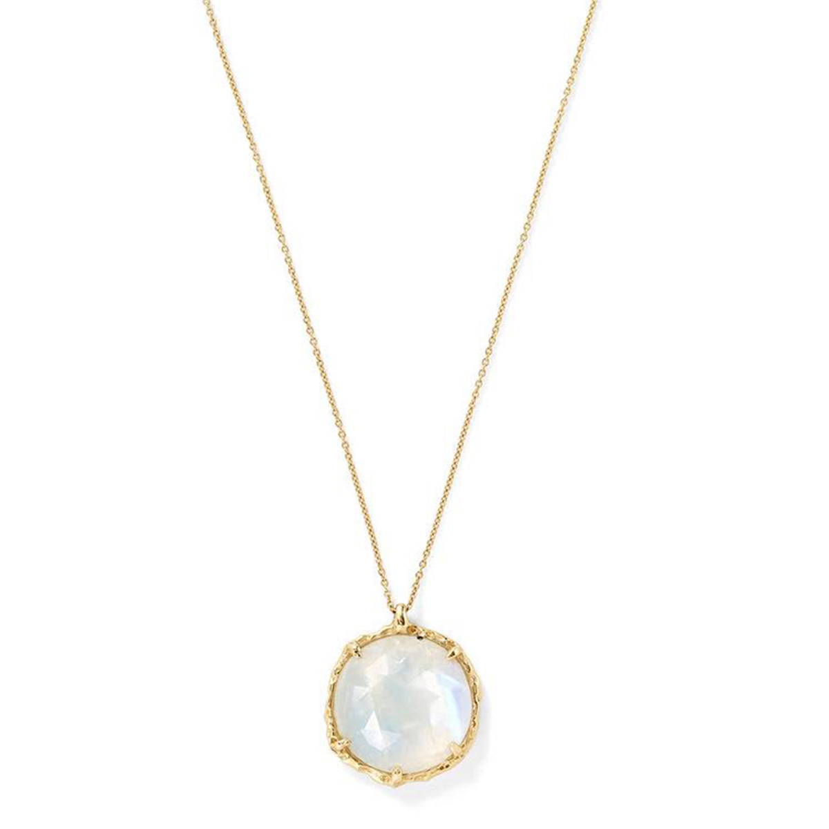 Round Large Necklace in Moonstone