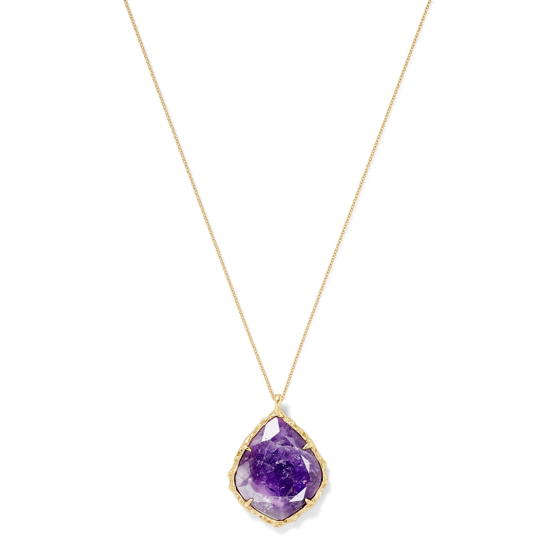 Trapezoid Necklace in Amethyst