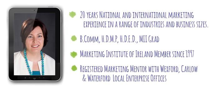 Sharon Ginnetty Digital Marketing Consultant based in Wexford Ireland Optimise Marketing