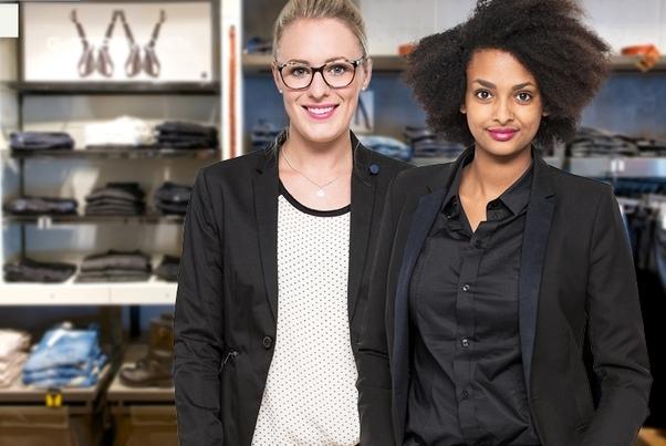 Jana Müller und Birhana Iskel